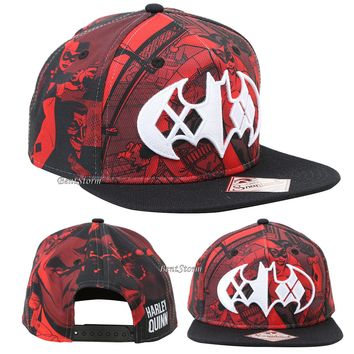 Licensed cool 2016 DC  BATMAN HARLEY QUINN LOGO Snapback Trucker Ball Cap Flat Bill Hat