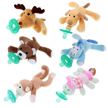 Plush Animal with Pacifier
