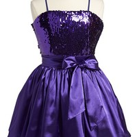Un Deux Trois Sequin Bodice Dress (Big Girls)
