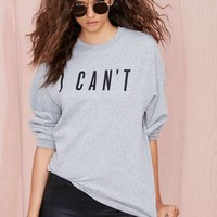 Nasty Gal x Private Party I Can't Sweatshirt