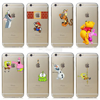 Apple iphone 6 6s Case Transparent Cartoon Characters