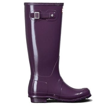 VONES2C Hunter Original Tall - Gloss Purple Tall Rain Boot