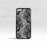 Black & White Floral Lace Case Cover for Apple iPhone 4 4s 5 5s 5c 6 6s Plus & iPod Touch