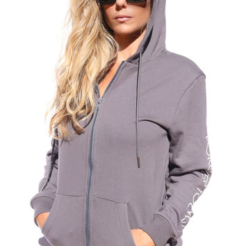 Forever Young Swimwear Zip Up Hoodie - 100% Cotton