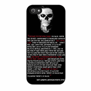 tate langdon evan peters cases for iphone se 5 5s 5c 4 4s 6 6s plus