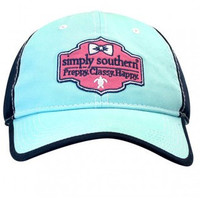 """Simply Southern """"Preppy.Classy.Happy"""" Hat - Blue"""