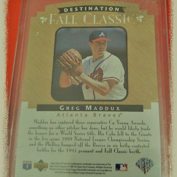 *EXTREMELY RARE* GREG MADDUX CHAMPIONSHIP SERIES COLLECTOR CARD