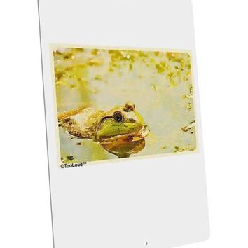 """Bullfrog In Watercolor Large Aluminum  Sign 12 x 18"""" - Portrait by TooLoud"""