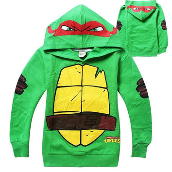 2015 Top Quality Boys Teenage Mutant Ninja Turtles Kids hoodies Baby Boy Children tees Long Sleeve 100% Cotton = 1932008708