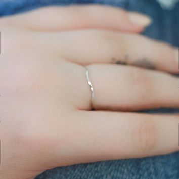 Subtle Statement Ring - Silver