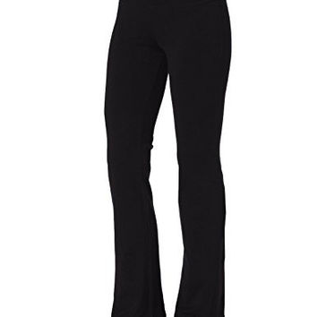Aenlley Womens Workout BootLeg Athletica Yoga Pants Spanx Gym Fitness Activewear Color Black Size S