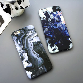 Cool fashion phone marble case for iPhone 7 7 plus iphone 5 5s SE 6 6s 6 plus 6s plus + Nice gift box 072701