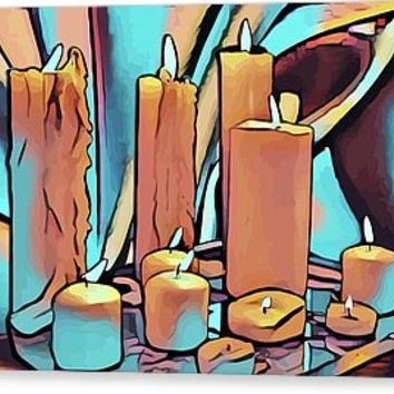 Candles And Silk Abstract Still Life Art