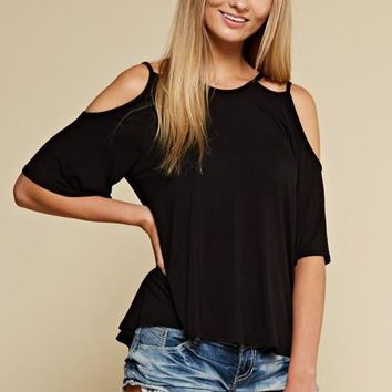 Cold Shoulder Double-Strap Top