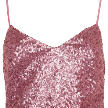 Pink Sequin Bralet - Tops - Clothing - Topshop USA