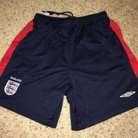 Sale!! Vintage Umbro ENGLAND National Team Soccer Shorts Football Jersey shirt Free US