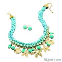 Sea Shore Fashion Necklace and Earring Set