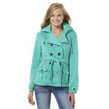 Junior's Knit Peacoat - Sears