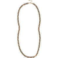 River Island MensYellow tone simple chain necklace