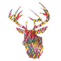 "Aimee St. Hill ""Painted Chevron"" Bucky Deer Bust Jr."
