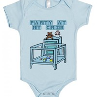 PARTY AT MY CRIB - FUNNY BABY ONE-PIECES FOR BOYS