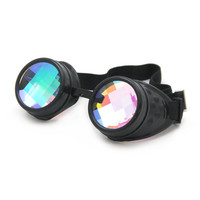 Grid Kaleidoscope Goggles - Black