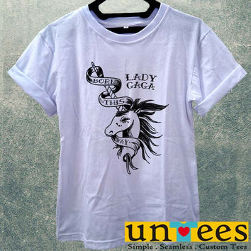 Lady Gaga Unicorn Tattoo Women T Shirt
