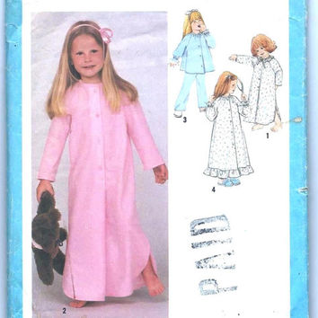 Child's Nightgown, Pajamas and Robe: Size 4, Chest 23, Vintage Simplicity Sewing Pattern 9250