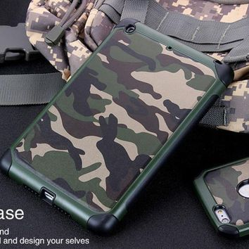 New Outdoor Military Camouflage Skin Case Cover for Apple iPad Mini / iPad Mini 2/3/4 and iPhone Smartphone Series