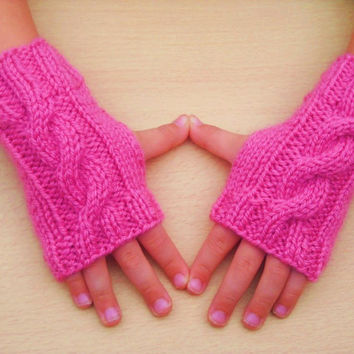 Knitting Pattern Children's Cable Knit Wrist by bijouxboutique