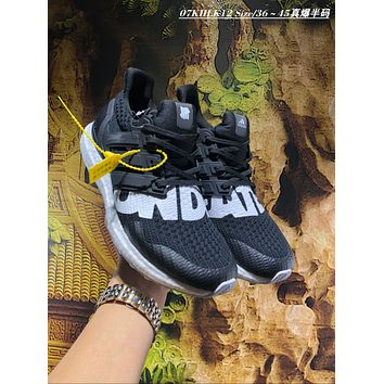 KUYOU A458 UNDEFEATED x adidas Ultra Boost 4.0 Big Letter Running Shoes Black
