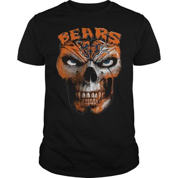 Chicago Bears skull shirt Guys Tee