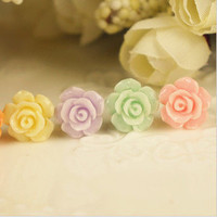 Small Resin Roses Beautiful Mobile Phone Dustproof Plug