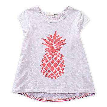 Copper Key 2T-6X Pineapple Embroidered Applique Tee | Dillards.com