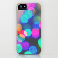 bokeh Christmas 3 iPhone & iPod Case by Deb Schmill