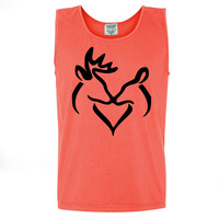 Black Snuggling Buck & Doe Tank