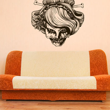 Vinyl Wall Decal Sticker Zombie Geisha #1235