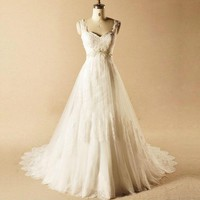 Elegant Sweetheart Wedding Dress Bridal Gowns Wedding Dresses Tulle With Appliques