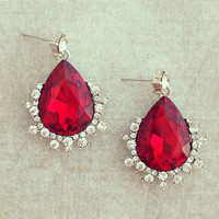 Pree Brulee - Elizabeth Ruby Earrings