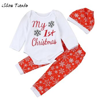 Newborn Infant Baby Boy Girl Christmas Outfits