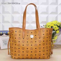 MCM Women Shopping Bag Leather Satchel Crossbody Handbag Shoulder Bag B-YJBD-2H