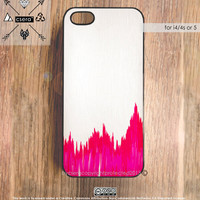 Unique Gifts - iPhone4s Case - iPhone5 Case, iPhone 4 Case - Rubber Silicone iPhone Case, or Plastic Geometric iPhone Case, Pink Silk Effect