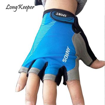 Long Keeper High Quality Breathable Men Gloves Half Fingerless Mittens Women Gym Fitness Gloves Outdoor Sports Guantes mujer G84