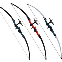 Outdoor Hunting equipment, stainless steel bow and arrow, is black and white bow