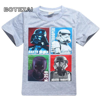 Boy's Cartoon Star Wars T-shirt