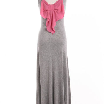 Flirty Bow Back Maxi Dress