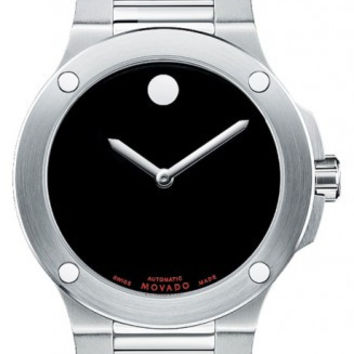 Movado SE Extreme Men's Stainless Steel Black Horwitt Dial Automatic Movement 44mm Watch 0606290