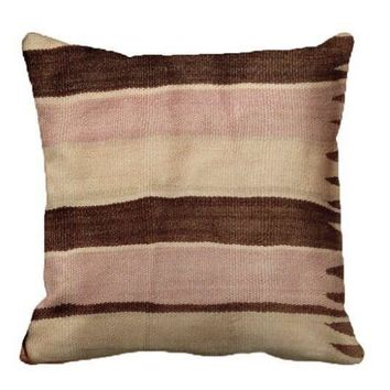 Pre-owned Berber Moroccan Handwoven Pillow