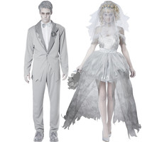 Disney Halloween Zombie Couple Wedding Dress [8939093639]
