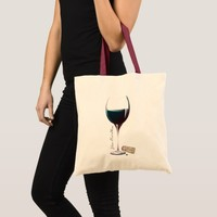 Wine Glass Art Personalised Logo Tote Bag